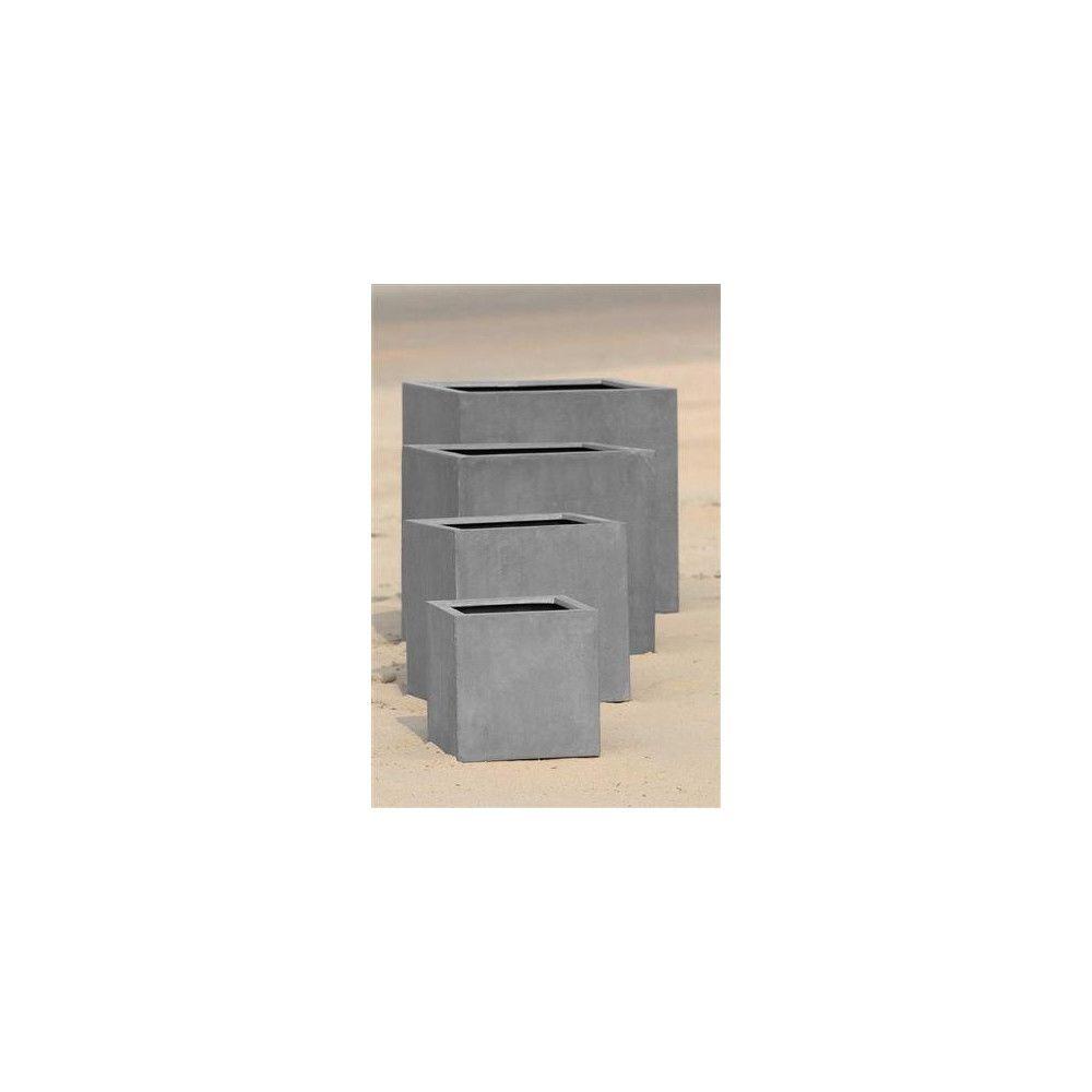 Mathi Design ROCKSTONE - Jardinière carrée 50x50x50 cm