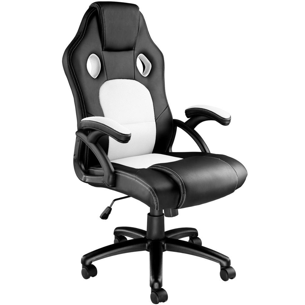 Tectake Chaise gamer TYSON - noir/blanc