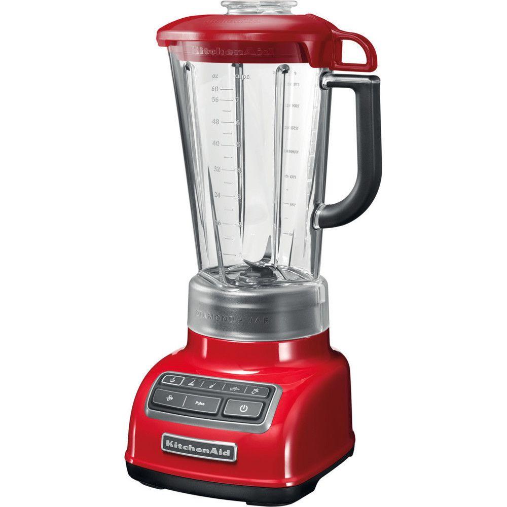 Kitchenaid blender mixeur électrique de 1,75L 550W rouge empire gris