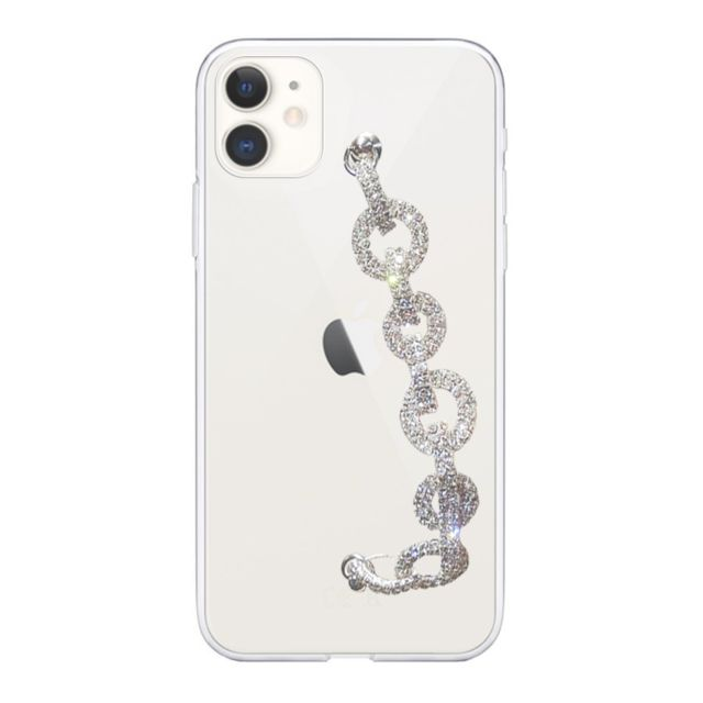 Evetane - Coque iPhone 11 silicone transparent dragonne strass - Accessoire Smartphone