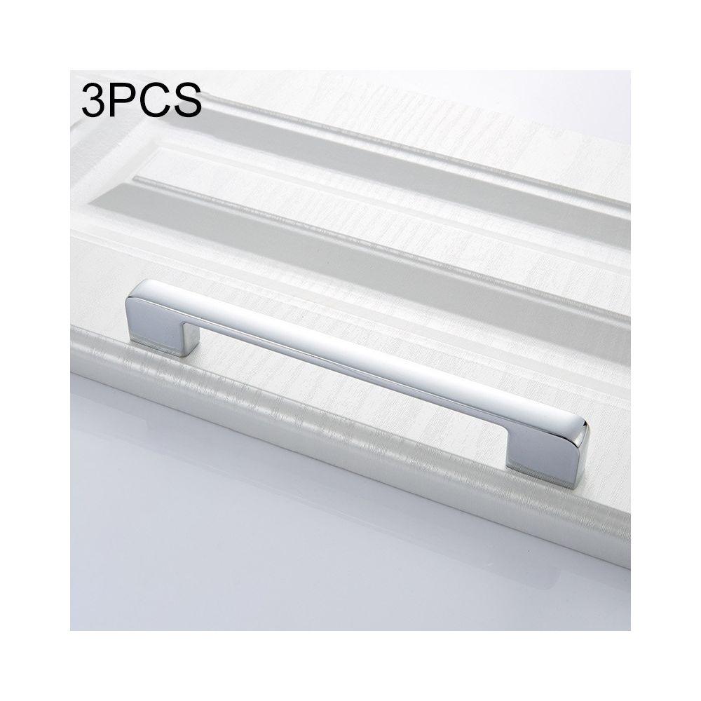 Wewoo Poignée d'armoire 3 PCS 6613-160 de porte simple tiroir en alliage de zinc chrome brillant