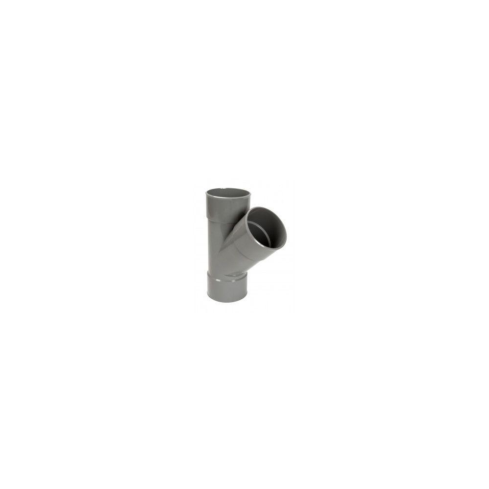 Nicoll 'Culotte simple 45° FF PVC pour tube d'évacuation gris - Ø 125 mm'''