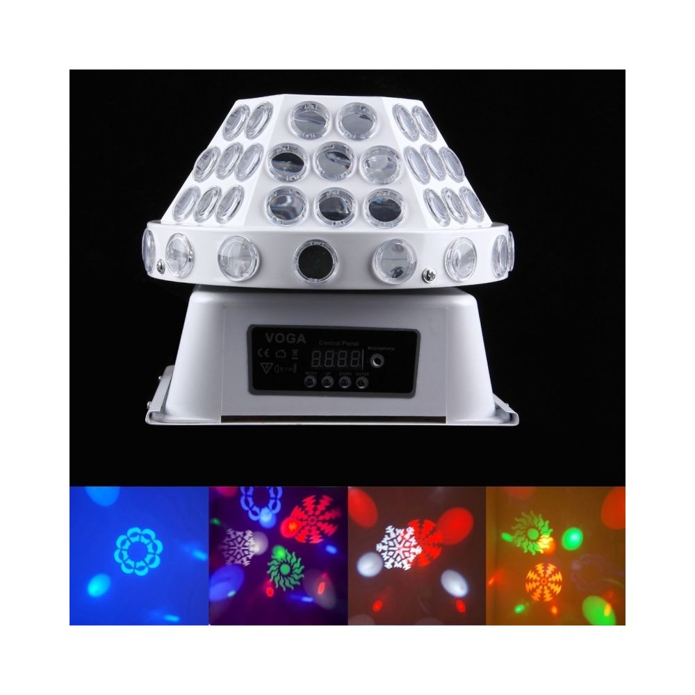 Wewoo LED Boule à facette Ampoule magique de champignon de 30W cristal, maître / esclave / DMX512 / course automatique / modes