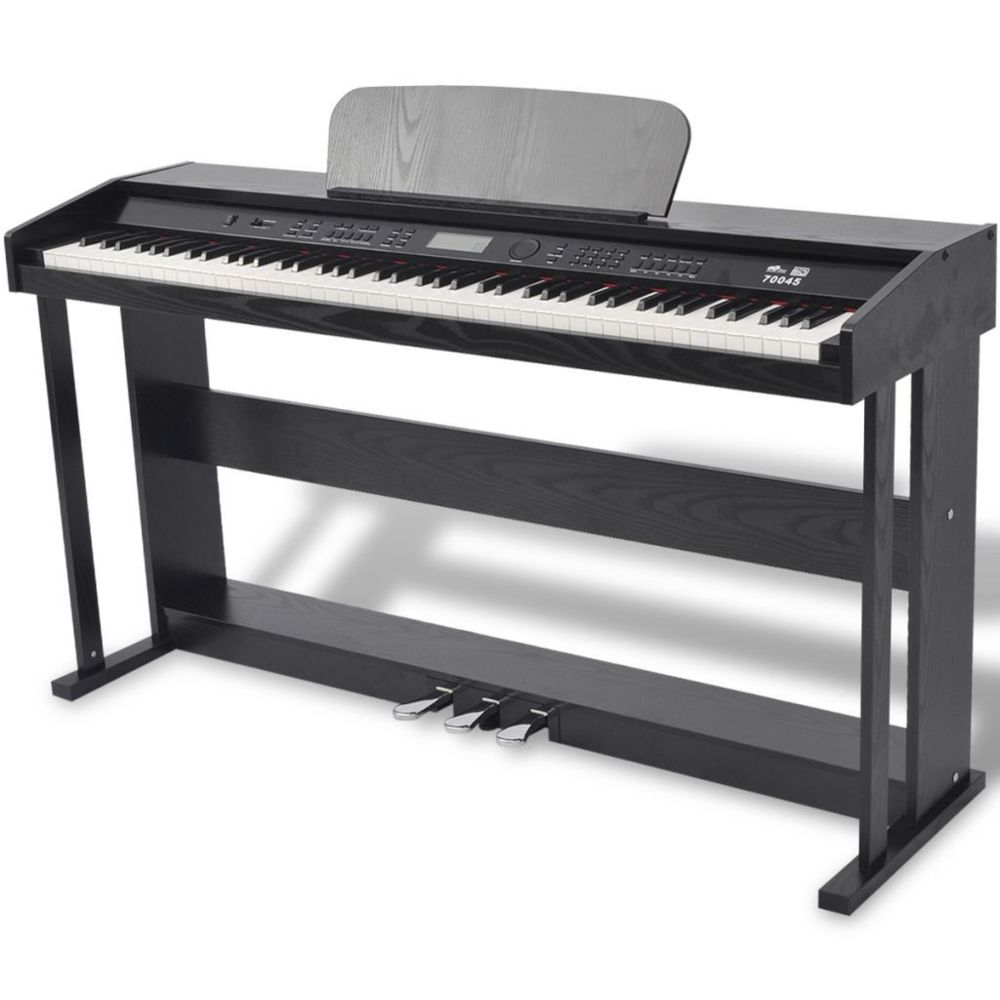 Vidaxl Piano avec 88 touches avec pédales Noir Panneau en mélamine | Noir