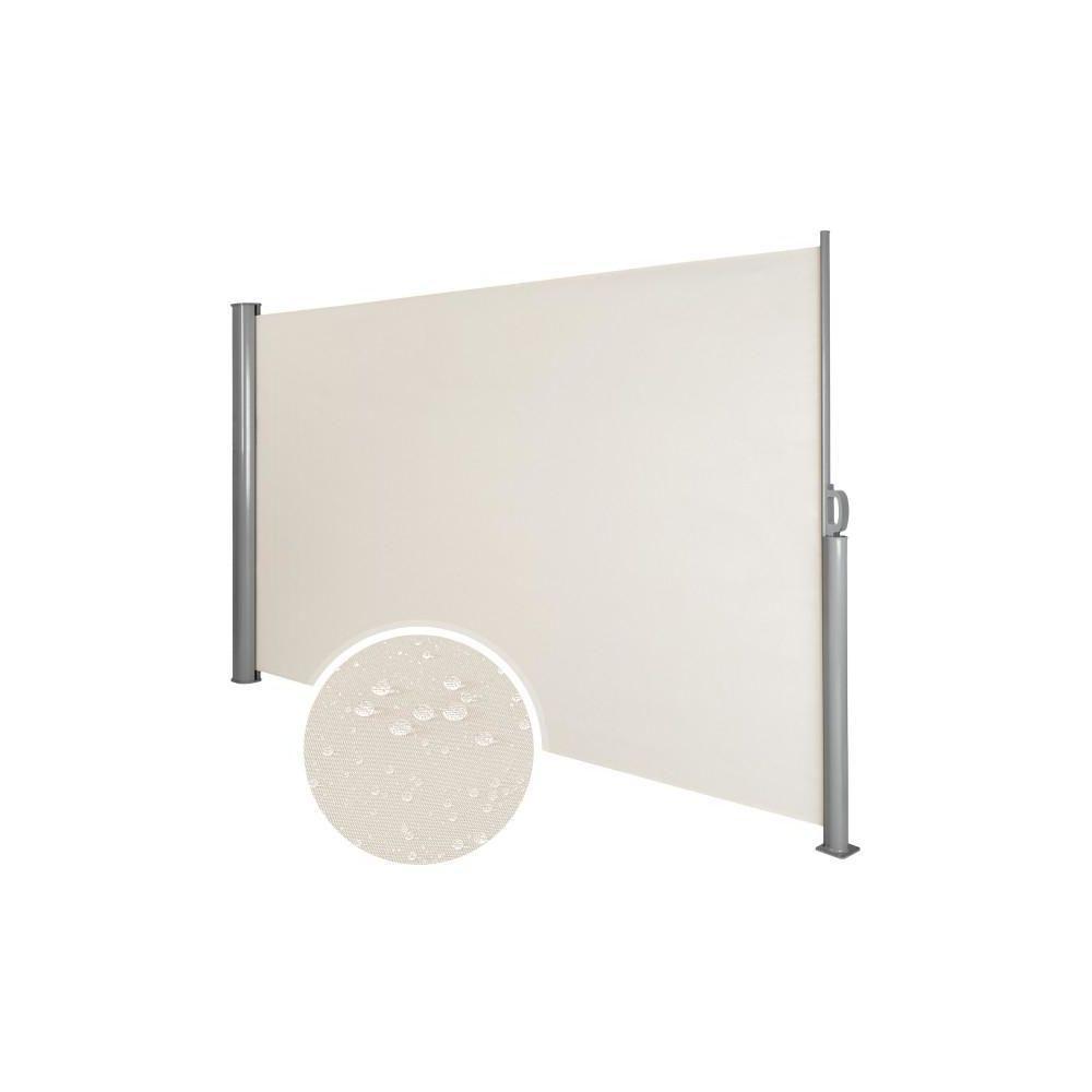 Helloshop26 Auvent store latéral brise-vue abri soleil aluminium rétractable 180 x 300 cm beige 2208015