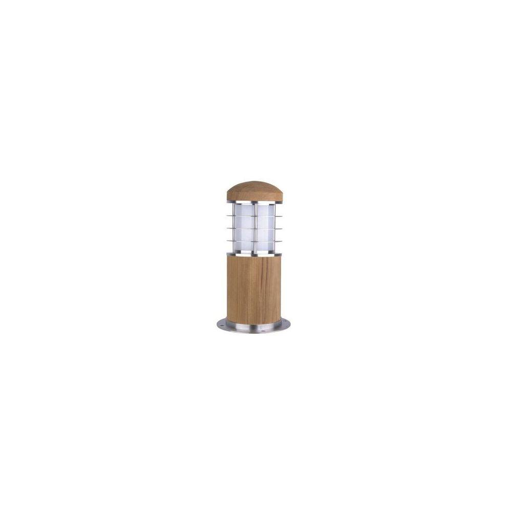 Garden Lights potelet eclairage Poole Mini 15W CFL Argent et Marron