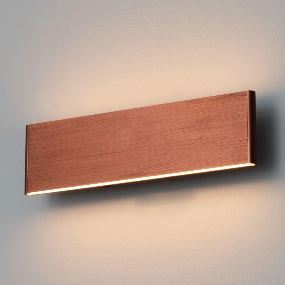 Kosilum Applique murale LED cuivre en aluminium brossé - Cruise