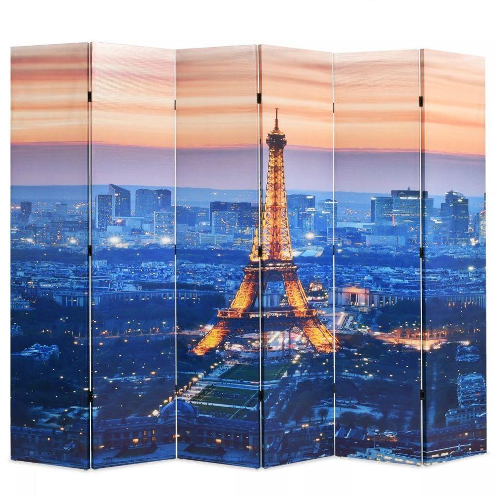 Vidaxl Cloison de séparation pliable 228x180 cm Paris la nuit   Multicolore - Séparateurs de pièces - Meubles   Multicolore   M