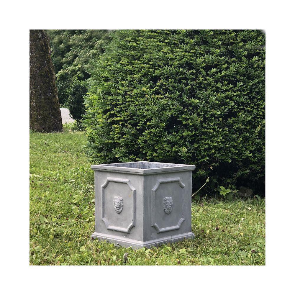 L'Originale Deco Jardinière Bac Pot à Plantes Arbre de Jardin d?Entrée Vase Jardiniere Vasque Medicis 27 cm x 26 cm