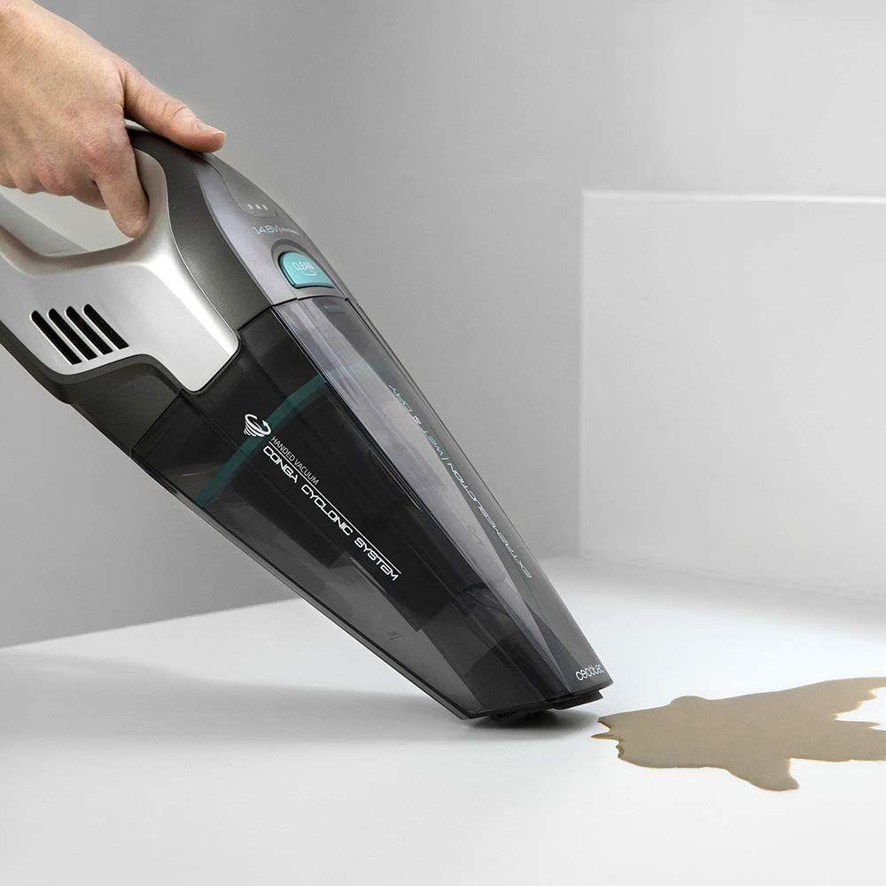 Cecotec Aspirateur à Main sans fil de 0,5L 100W gris noir