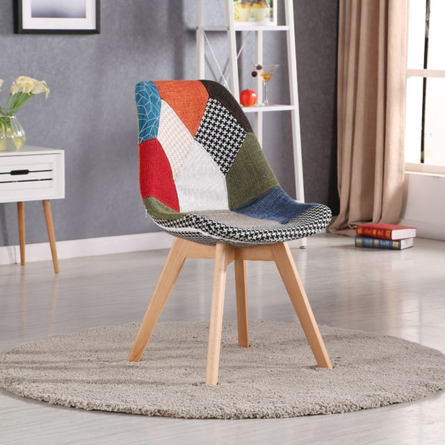 Oneboutic - Chaise scandinave patchwork - Prague - Chaises