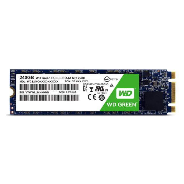 Western Digital -SSD GREEN 240 Go M.2 SATA III Western Digital  - Disque SSD M.2