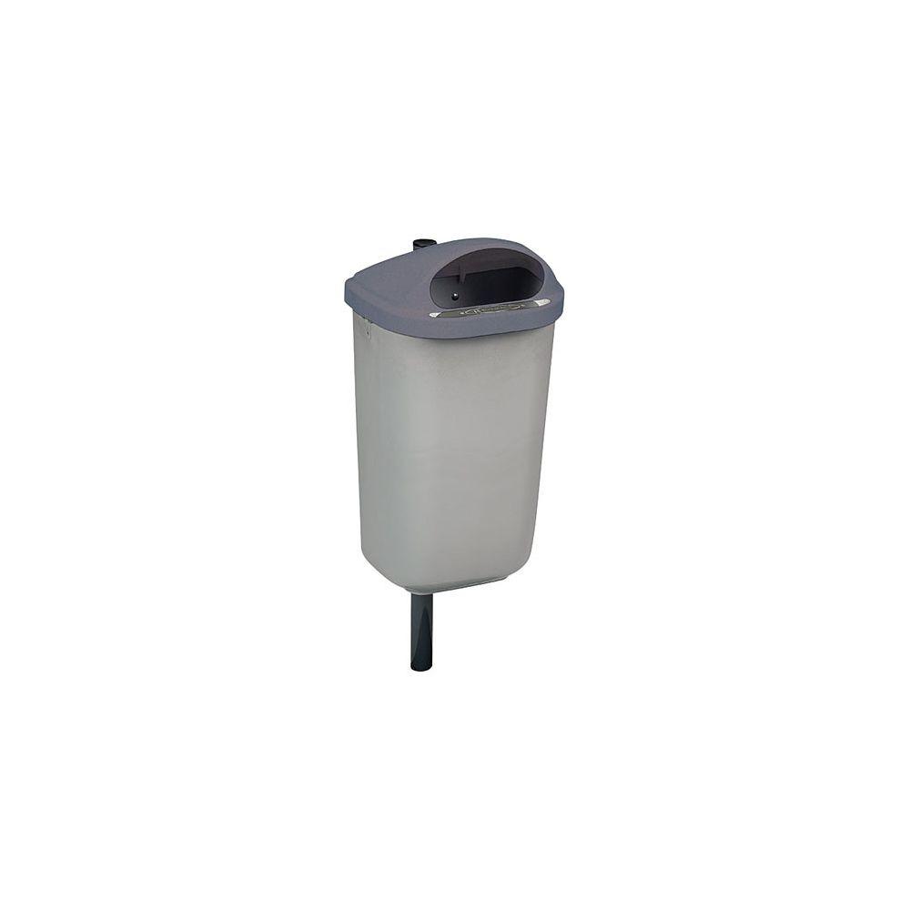 Rossignol Corbeille murale 50 litres Rossignol Xérios extérieur grise