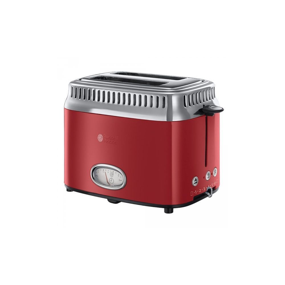 Russell Hobbs RUSSELL HOBBS Toaster RETRO 2 fentes 1300W Rouge Ruban 21680-56