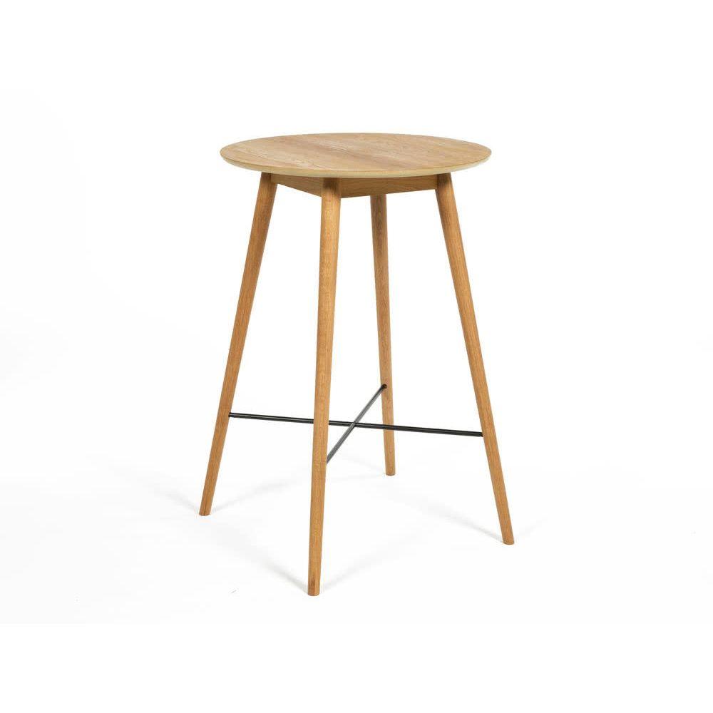 Axe Design Table de bar en bois massif avec repose-pieds NAGANO