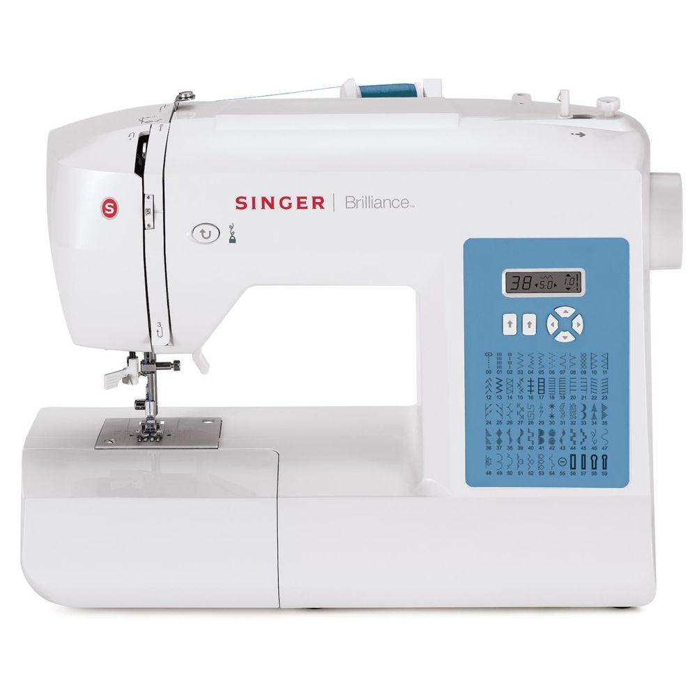 Singer Machine à coudre Brilliance 6160 - 026160 - Blanc