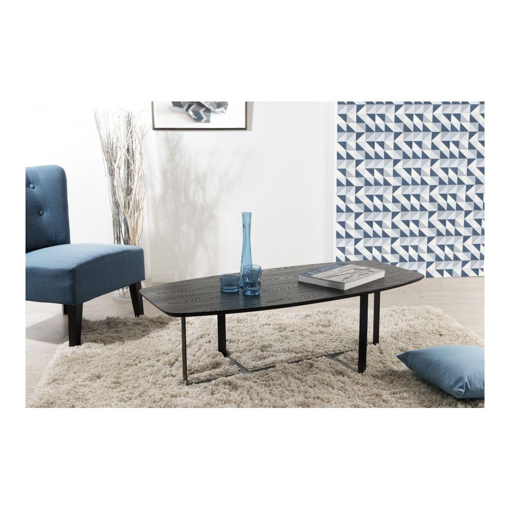 MACABANE Table basse rectangulaire pieds métal