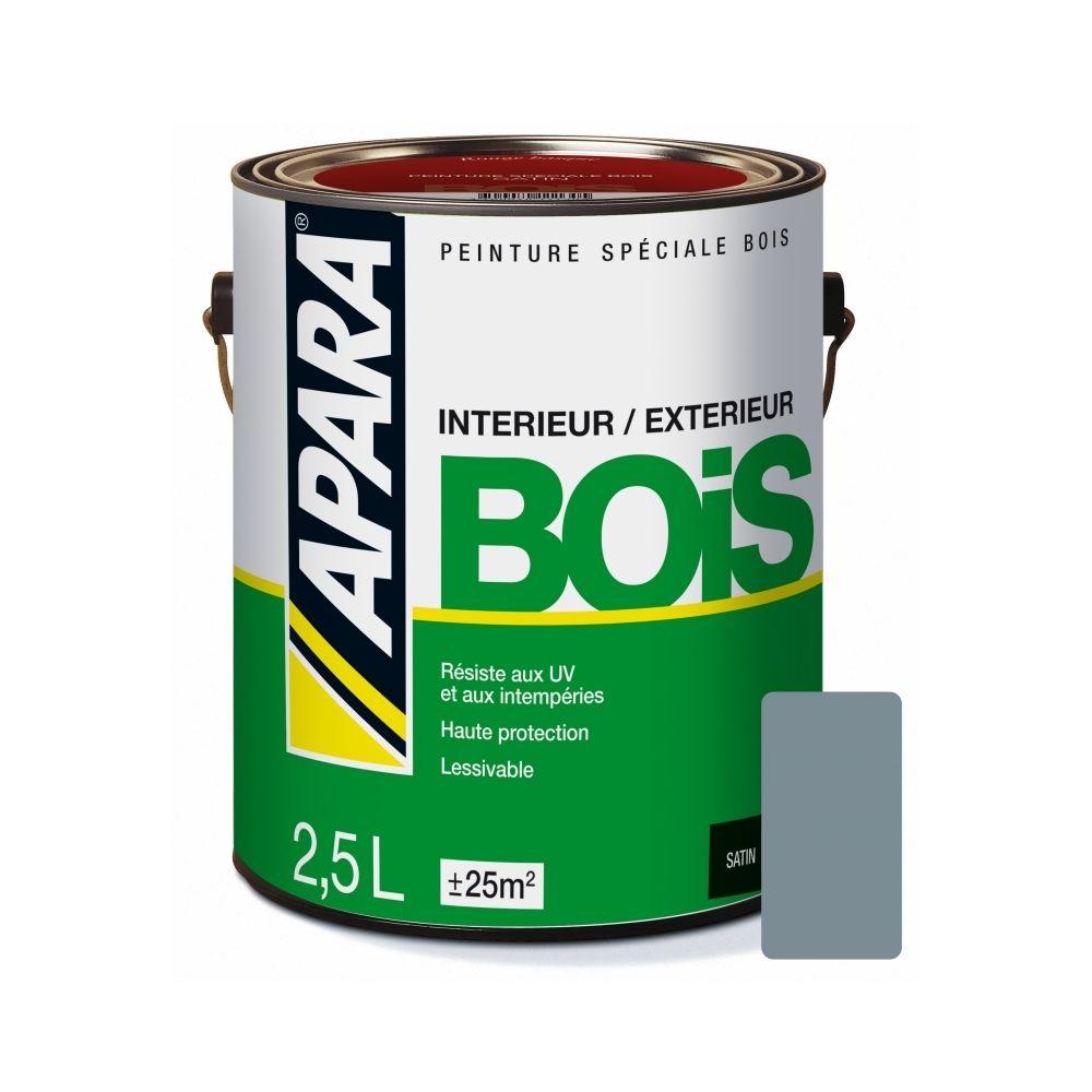 Apara Peinture BOIS SATIN-2.5 litres-Gris (RAL 7001)