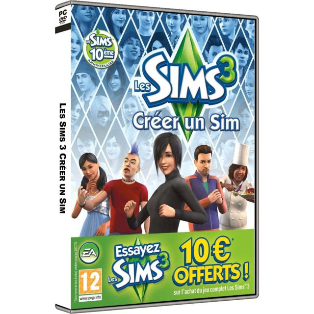 Electronic Arts - Electronic Arts - Les Sims 3  créer un Sims pour PC Electronic Arts   - Jeux PC