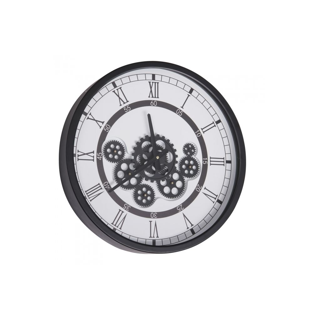 Table Passion Horloge Gear 46 cm fond blanc