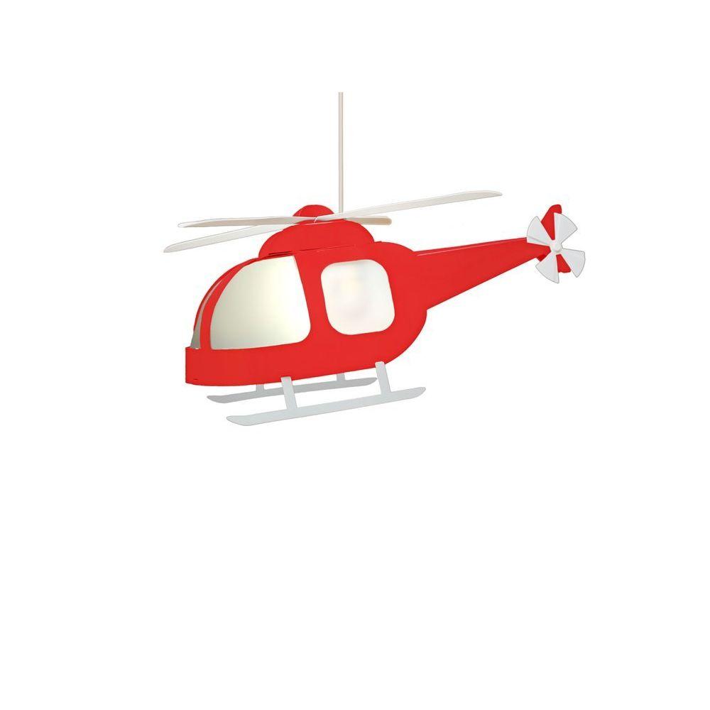Rosemonde Et Michel HELICOPTERE-Supension Hélicoptère H23cm Rouge Rosemonde et Michel Coudert - designé par Rosemonde et Michel Coudert