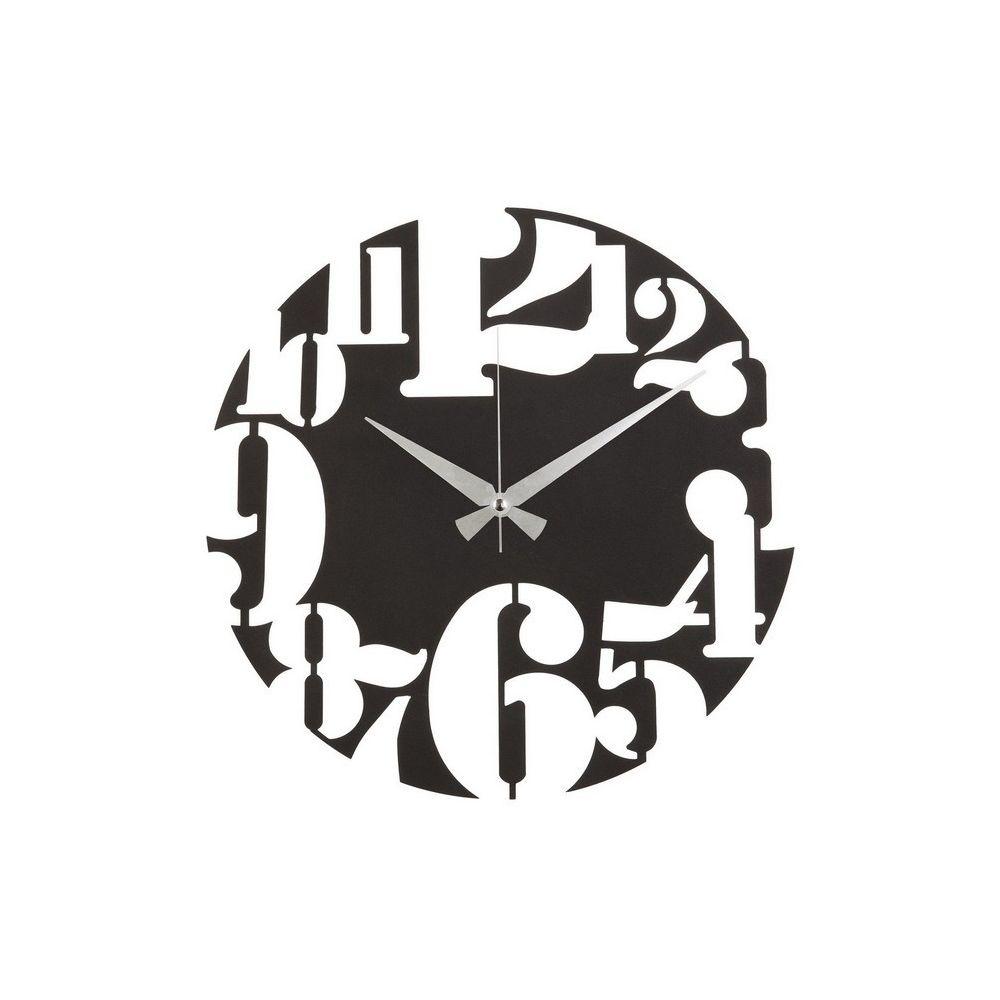 Homemania HOMEMANIA Horloge Murale - Décorative - Art Mural - pour Séjour, Chambre - Noir en Acier, 50 x 0,2 x 50 cm