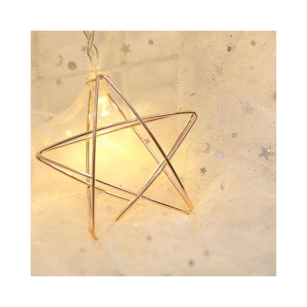 Wewoo Guirlande LED 3m étoile de fer prise USB romantique chaîne vacances lumière, 20 LEDs adolescente style chaleureuse fée l