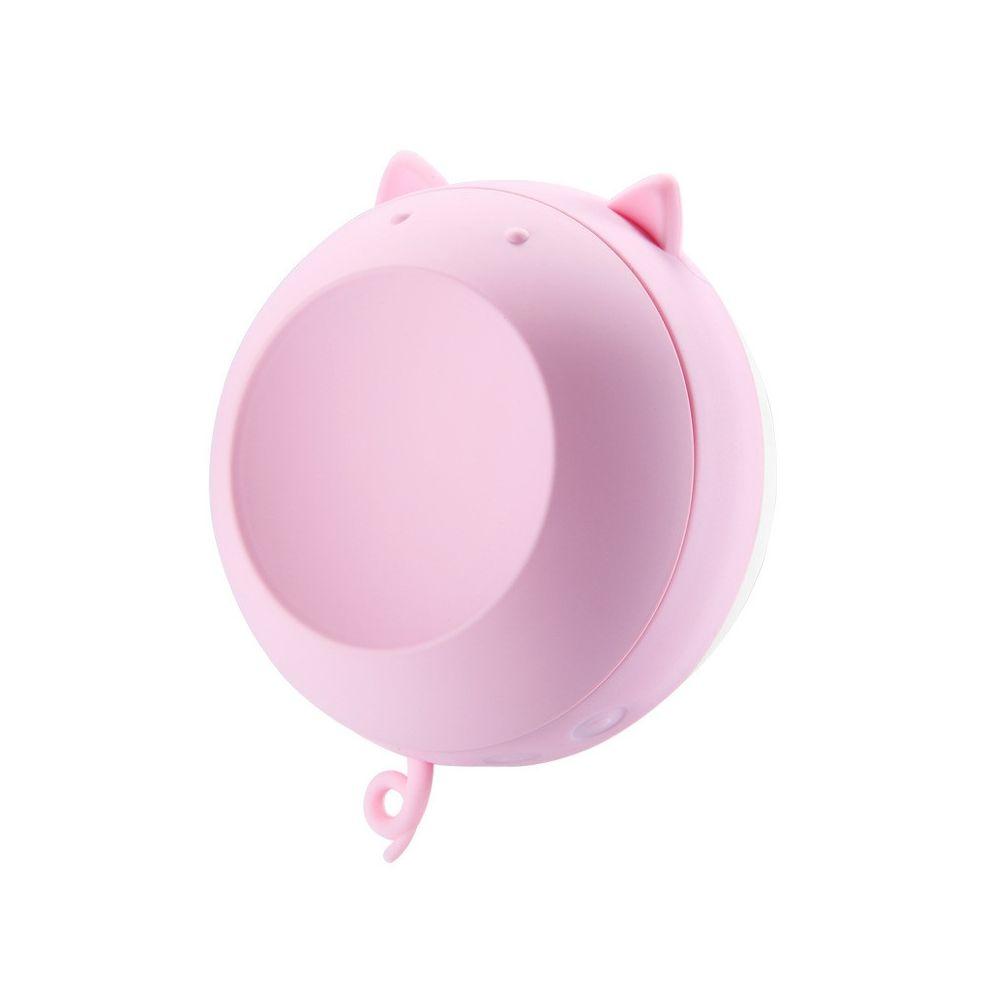 Wewoo Bouillotte Chauffe-eau magnétique rechargeable avec mini miroir de maquillage rose