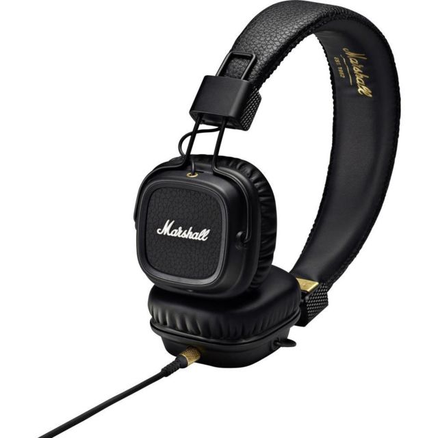 Marshall - Casque filaire supra-aural Marshall Major II pliable, micro-casque noir - Marshall