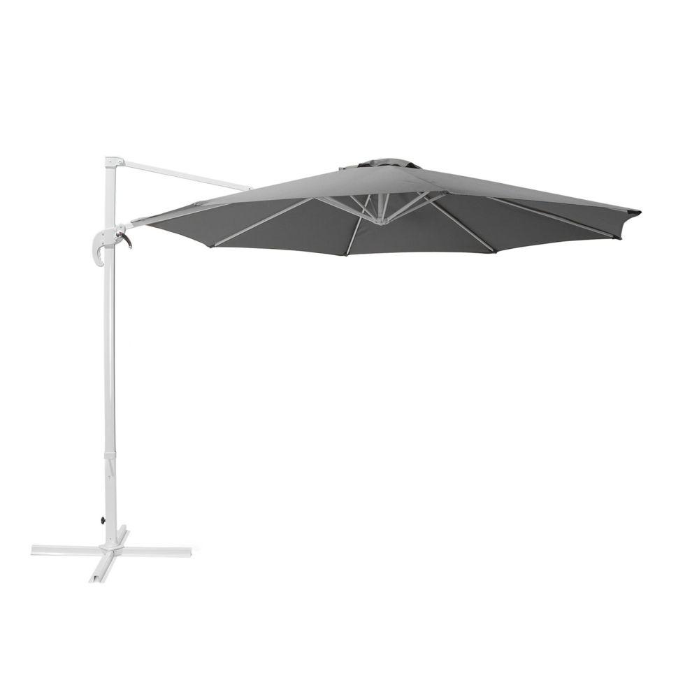 Beliani Beliani Grand parasol de jardin gris foncé Ø 300 cm SAVONA - anthracite