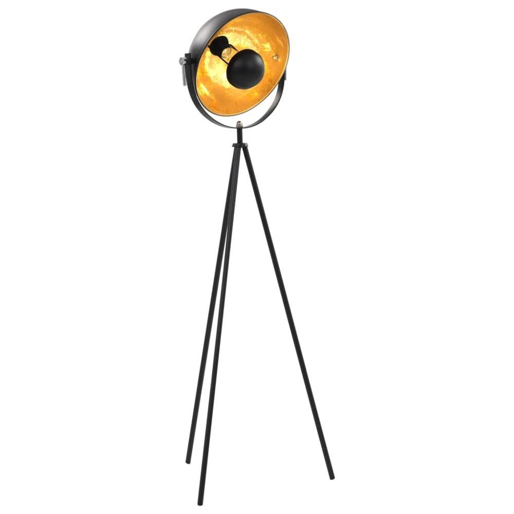 Vidaxl vidaXL Lampadaire E27 Noir et doré 31 cm