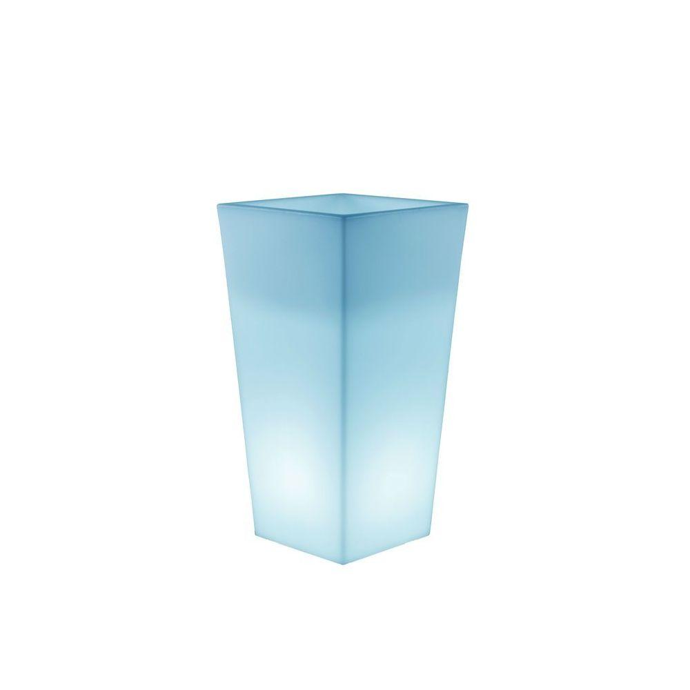 New Garden MELISA-Pot lumineux LED d'extérieur RGB solaire rechargeable H90cm Blanc New Garden