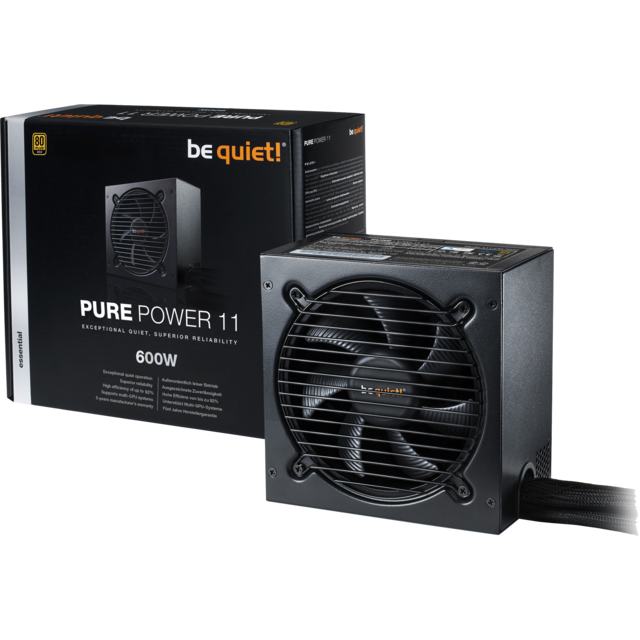 Be Quiet -PURE POWER 11 600W - 80 Plus Gold Be Quiet  - Alimentation non modulaire