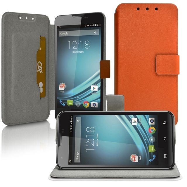 Housse Coque Etui Universel S Couleur Orange pour Samsung Galaxy Trend 2 Lite