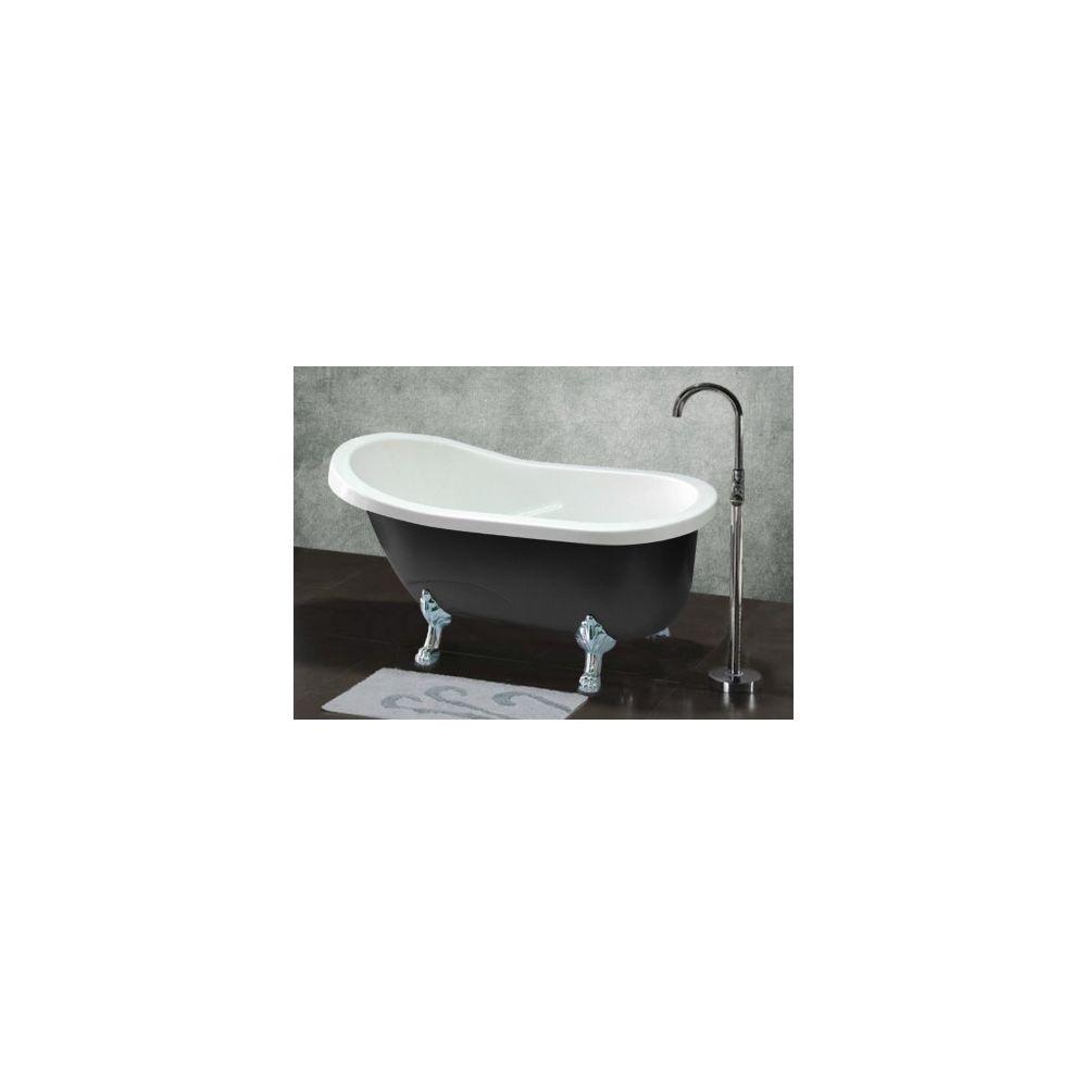 Shower Design Baignoire Ilot Retro Egee Ii 171l 145 74 77cm Noir Baignoire Rue Du Commerce