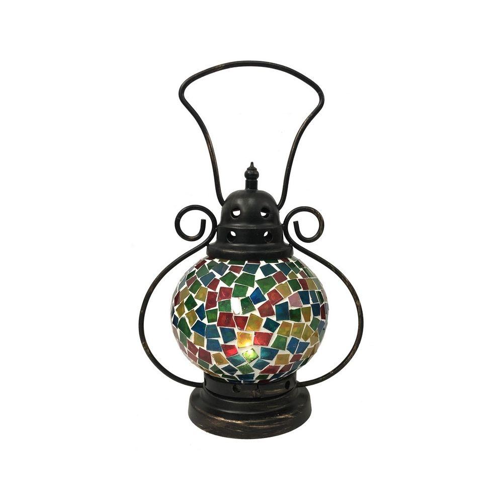 L'Originale Deco Lanterne Mosaïque d?Intérieur ou de Jardin Bougie Multi Colore 29 cm x 18 cm
