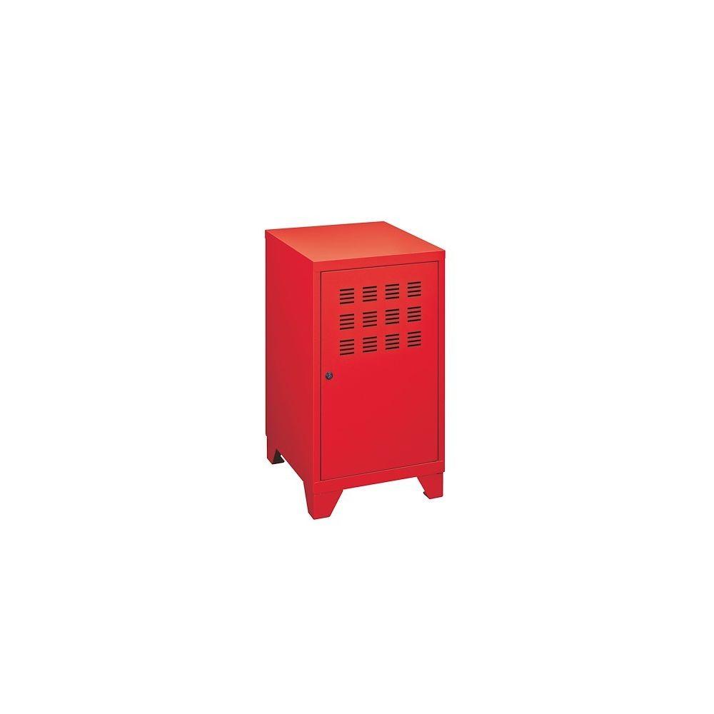 Pierre Henry Casier de bureau métal couleur rouge