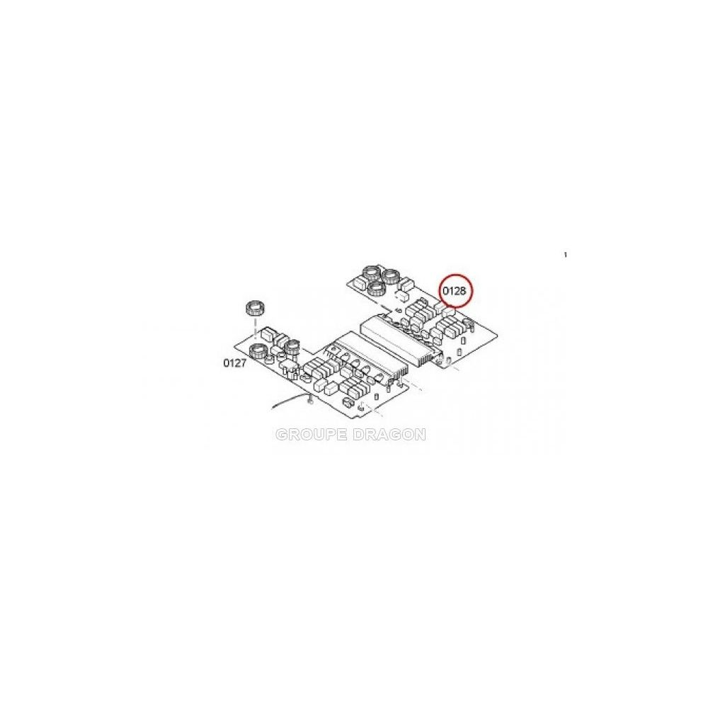 Bosch Module de puissance 2 inducteurs pour table de cuisson bosch b/s/h
