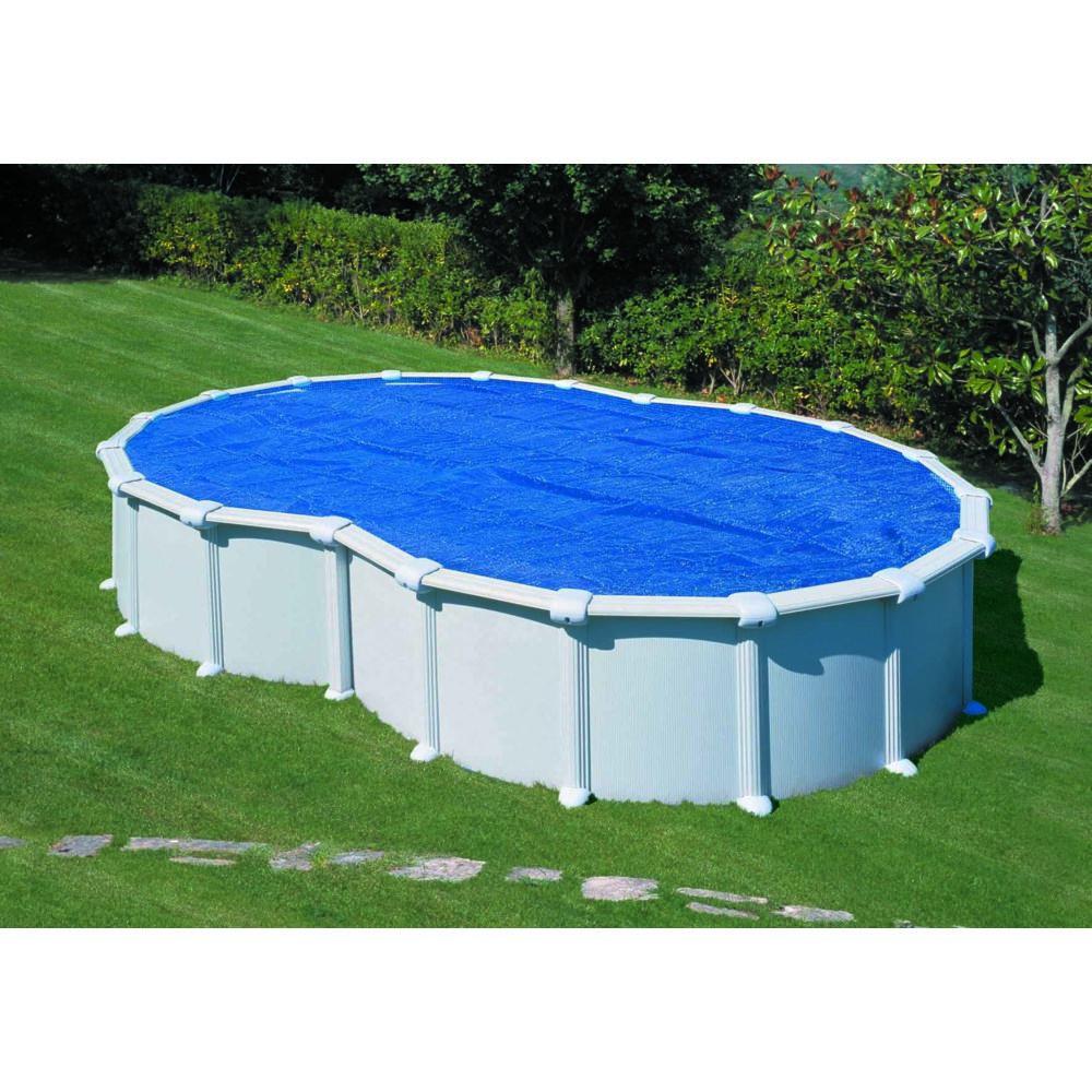 Gre Bâche à bulles été pour piscine en huit Gre Pool 6,20 x 3,70 m