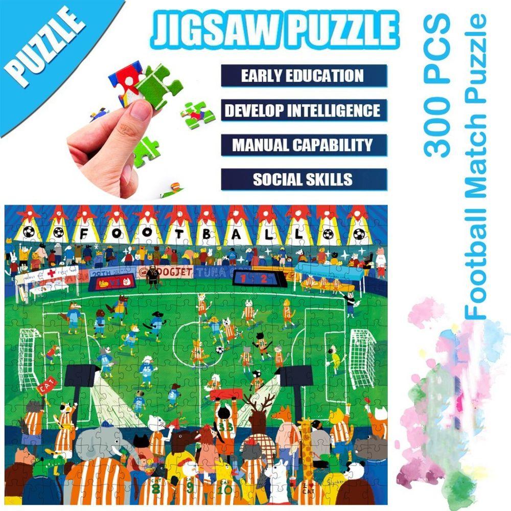 Generic Science Cartoon Football Match Puzzle 300 pièces éducatif Puzzle Game Toys