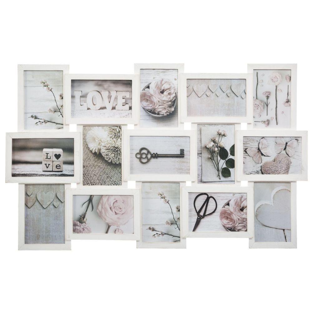 Atmosphera, Createur D'Interie Pêle-mêle relief Patine - 15 Photos - Blanc
