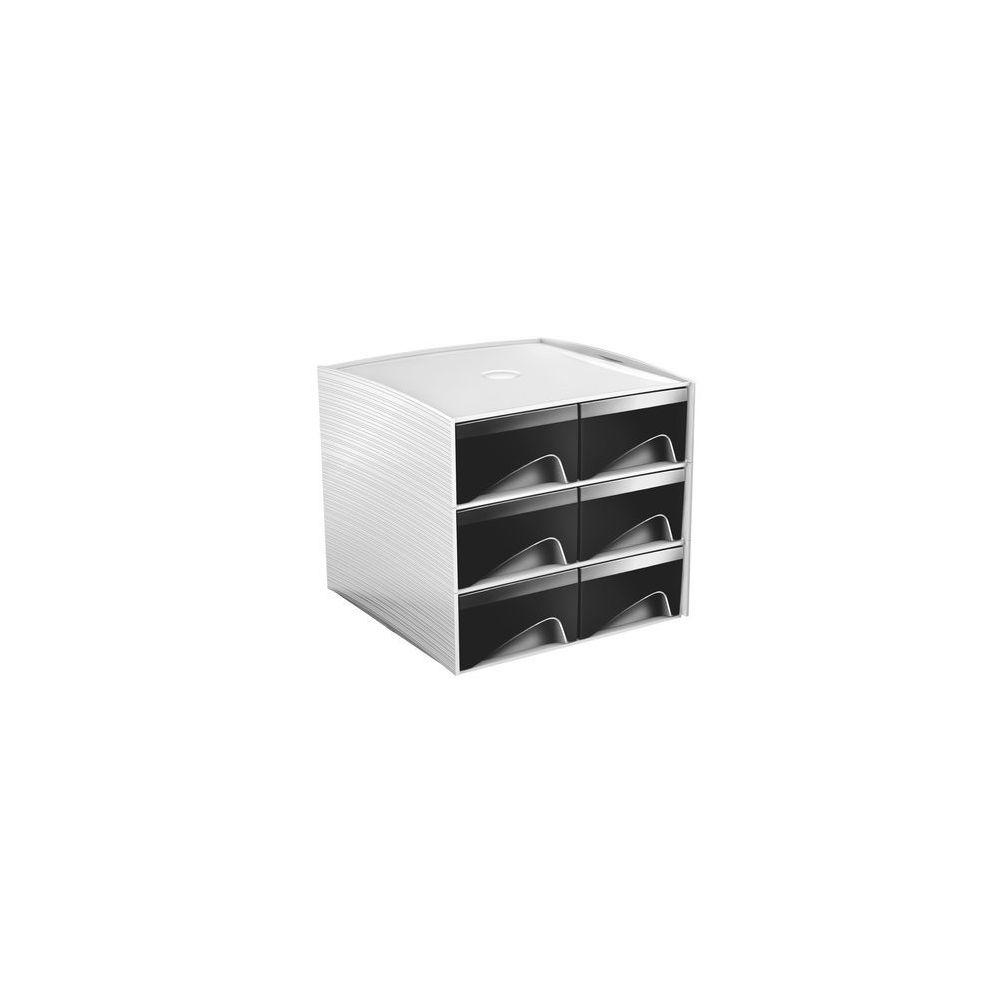 Cep Mini module de rangement plastique Cep My Cube 6 tiroirs noirs