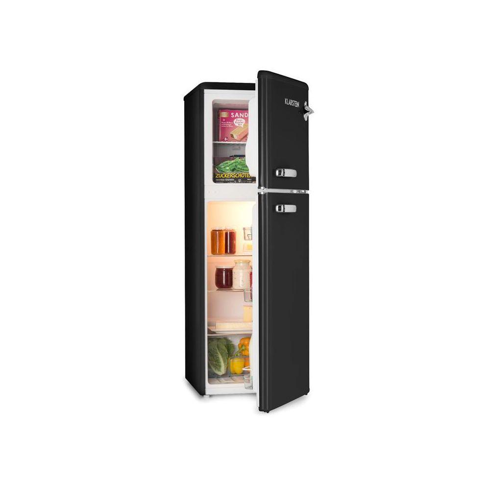 Klarstein Klarstein Audrey Combiné réfrigérateur 97L congélateur 39L A+ look rétro noir Klarstein