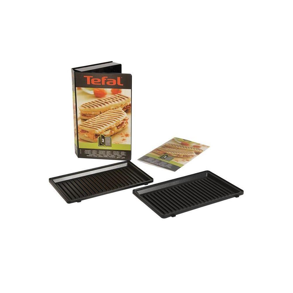 Tefal Coffret 2 plaques grill panini + Livre de recettes XA800312