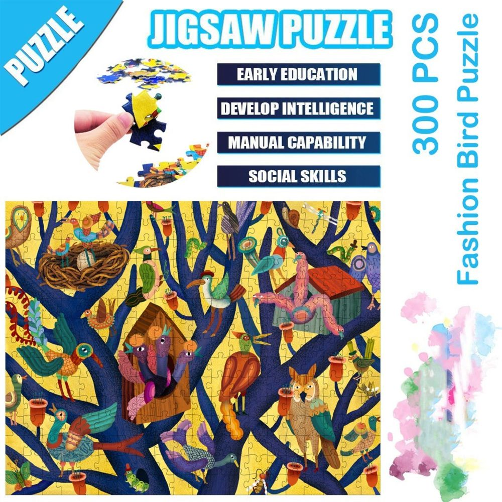 Generic Science Cartoon Fashion Bird Puzzle 300 pièces éducatif Puzzle Game Toys