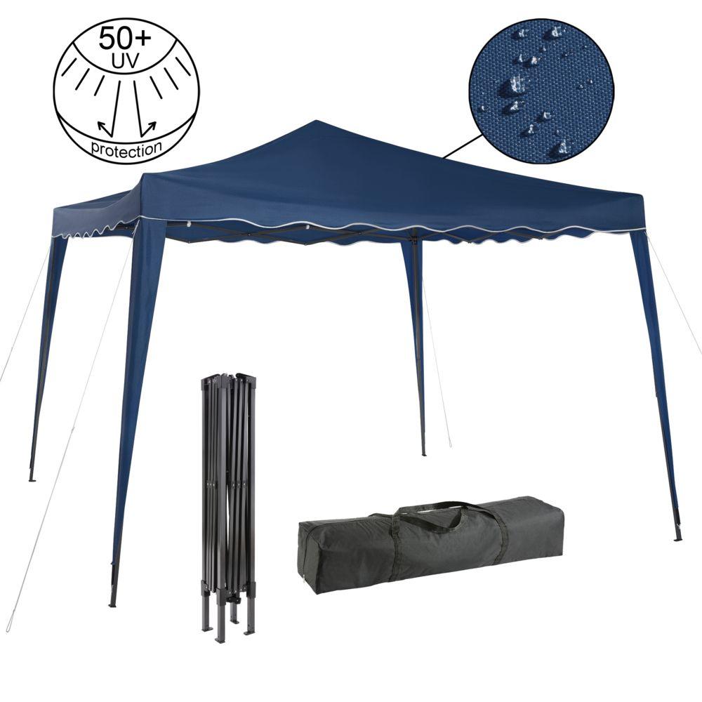 Arebos Arebos Pavillon pliable Tente de réception pop-up Pavillon de 3x3m bleu