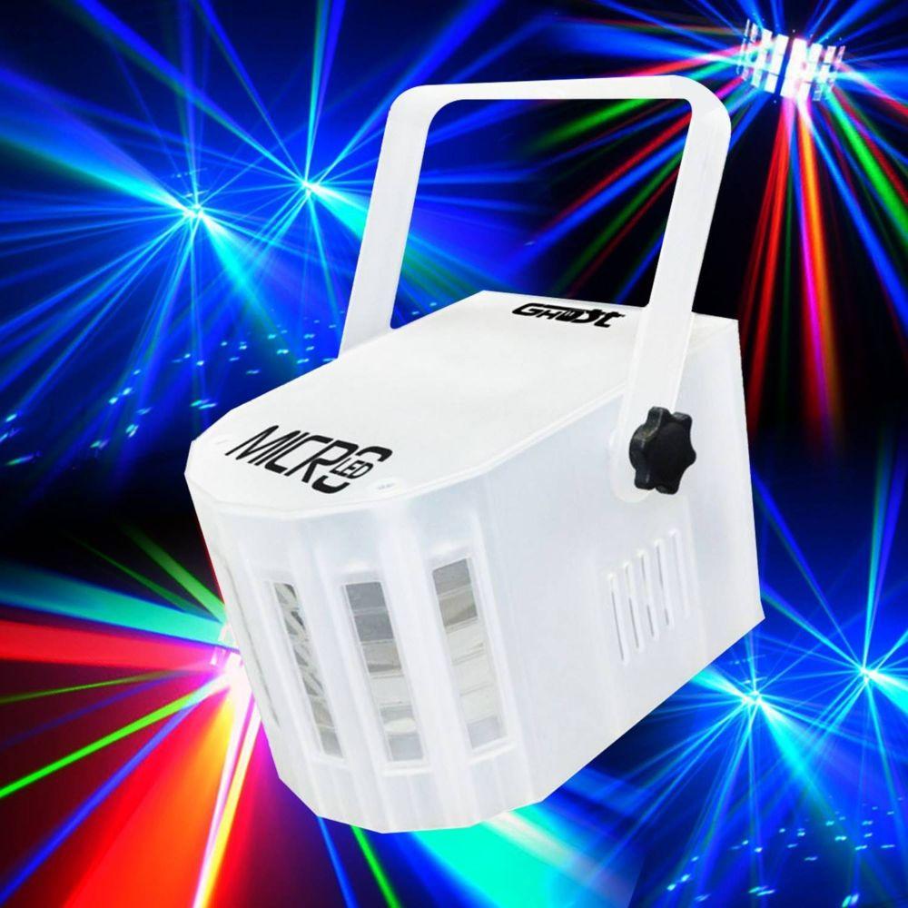 Ghost Jeu de lumière effet Derby 4 Leds 4 Couleurs 3W RGBW - Mode musical/auto GHOST MICROLED
