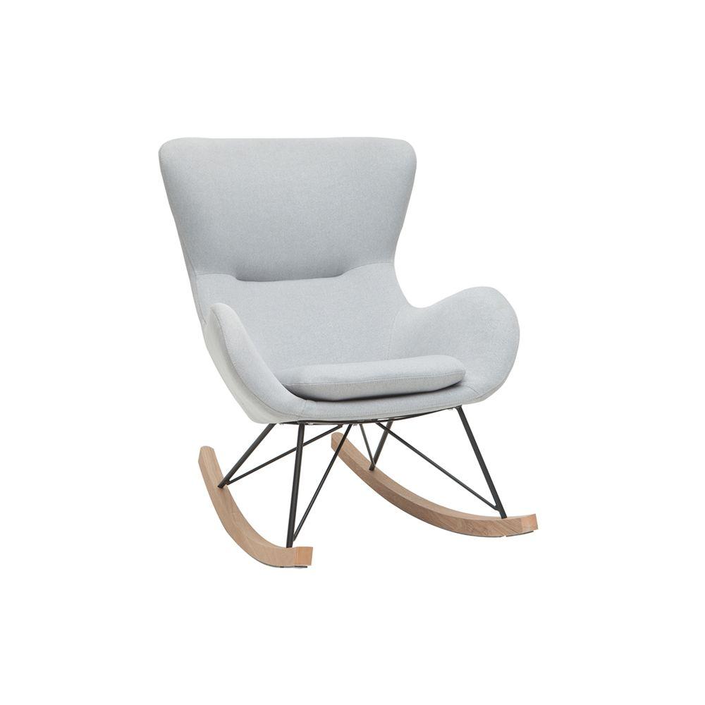 Miliboo Rocking chair design gris clair ESKUA