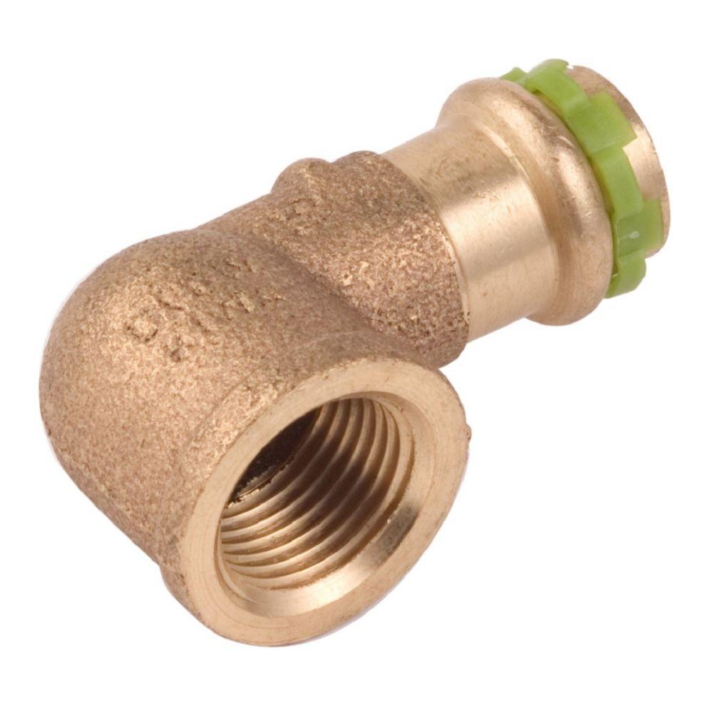 Comap coude à sertir 90 degrés - tube cuivre - femelle 16 mm / femelle à visser 20 x 27 mm - comap sudopress