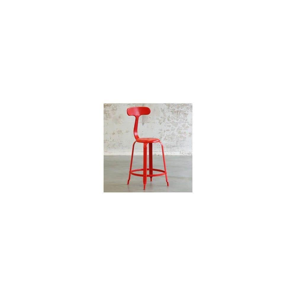 Mathi Design BALEINE - Tabouret de bar en acier de style industriel
